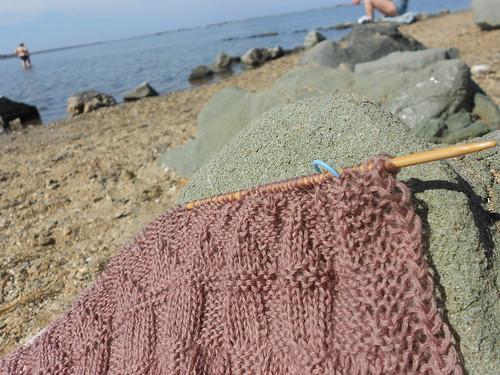 я сижу на пляжу