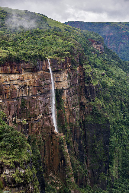 A waterfall in Cherrapunjee, India.