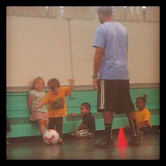 Learning how to pass the ball. #soccer