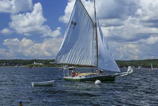 Sailing by SPI dock