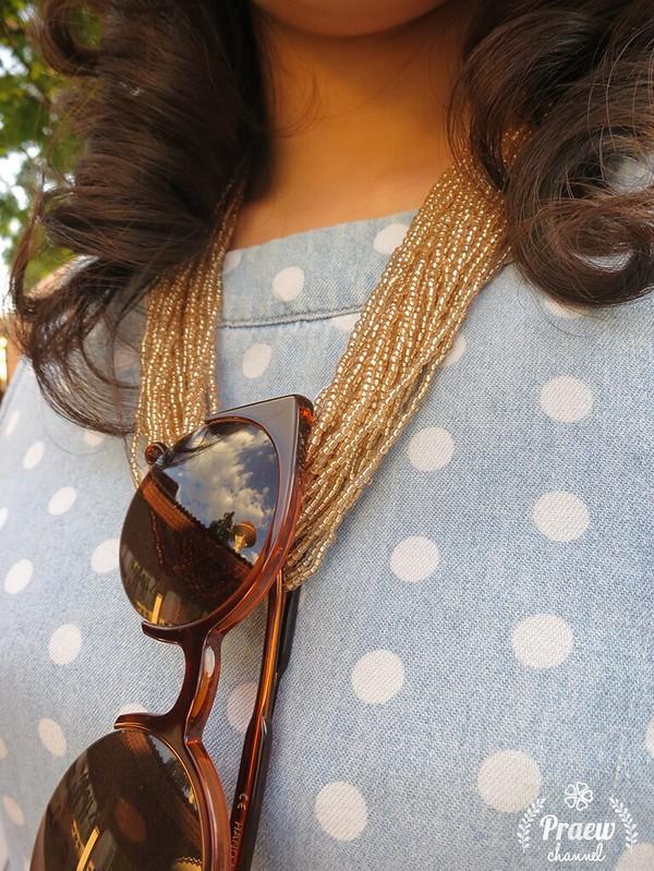 Style Me : Blue Polka Dots Dress
