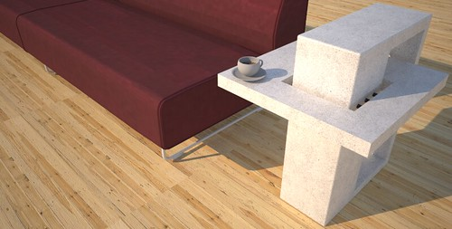 Square accent tables designed and created by Designs by Rudy