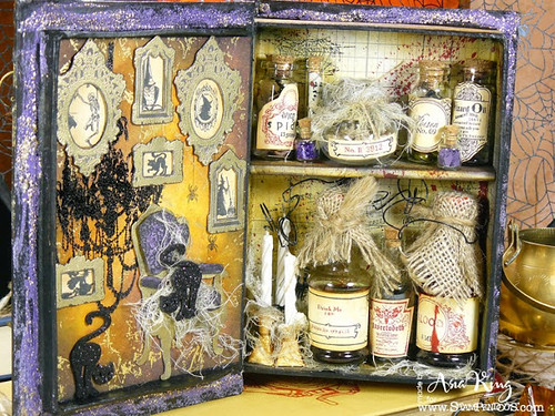 Halloween potions diy aphotecary with vials and spooky things