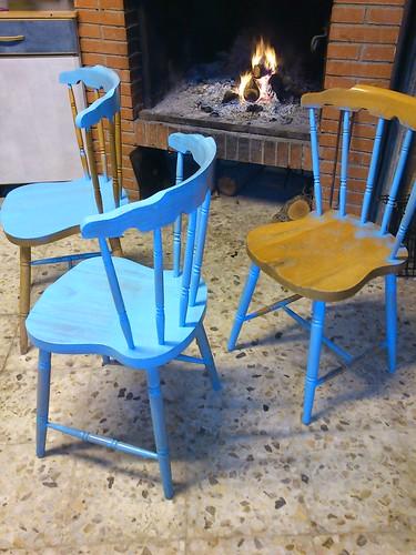 sillas de madera , nueva imagen by alialba