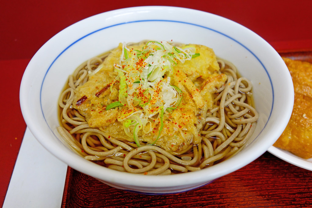 Tempura soba of Kawamuraya of Sakuragi-Cho Station