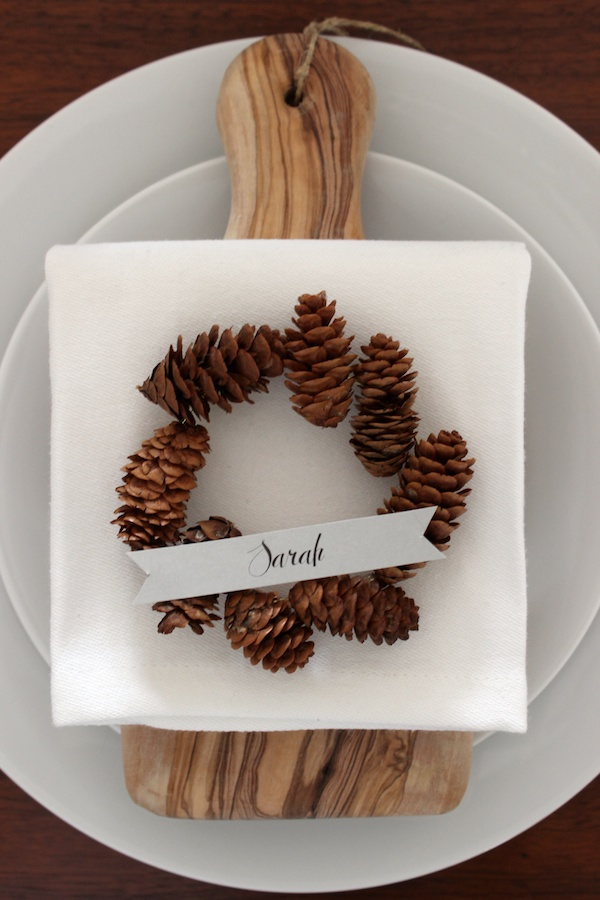 Fabric Paper Glue for Oh So Beautiful Paper | DIY Pinecone Wreath Placeholders