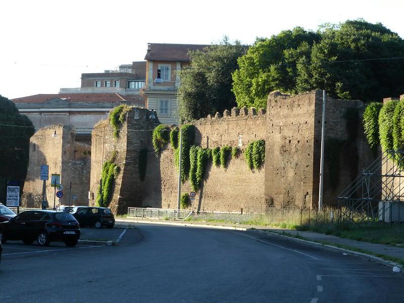 Castra Praetoria: north wall