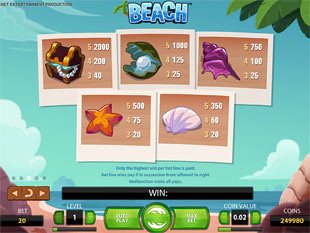 free Beach slot payout
