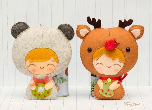 Bebé oso y bebé reno
