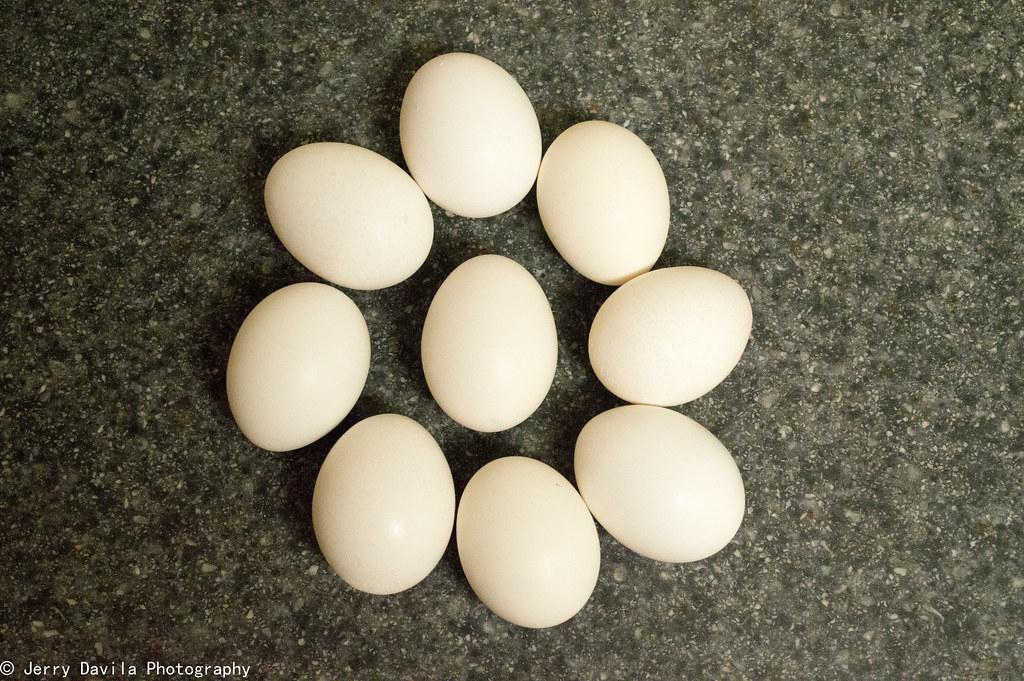 Egg imitation.