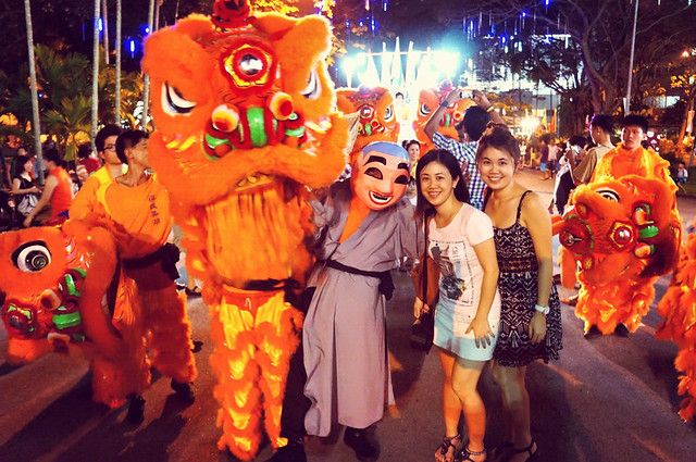 Pesta Chingay, Lion & Dragon Dance Parade 2013 at Penang Esplanade