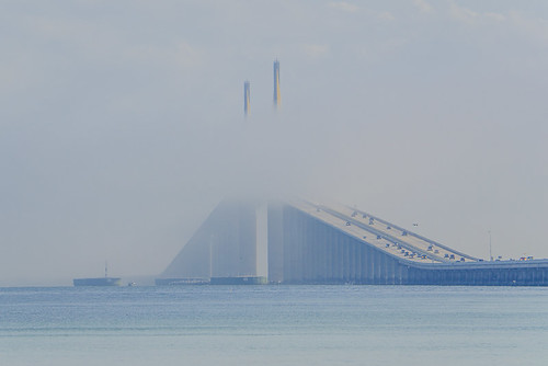 Marine Layer rolling through Sunshine Skyway Bridge - Timelapse 4/11
