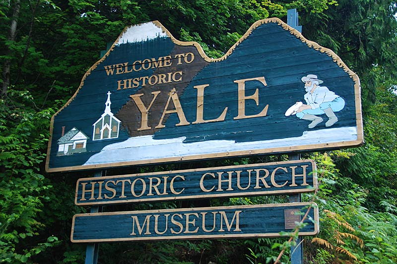 Historic Yale in the Fraser Canyon, British Columbia, Canada