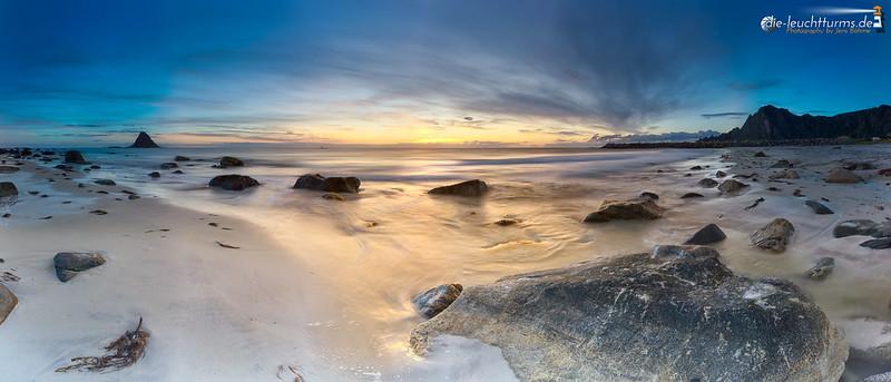 Bleik beach during blue hours