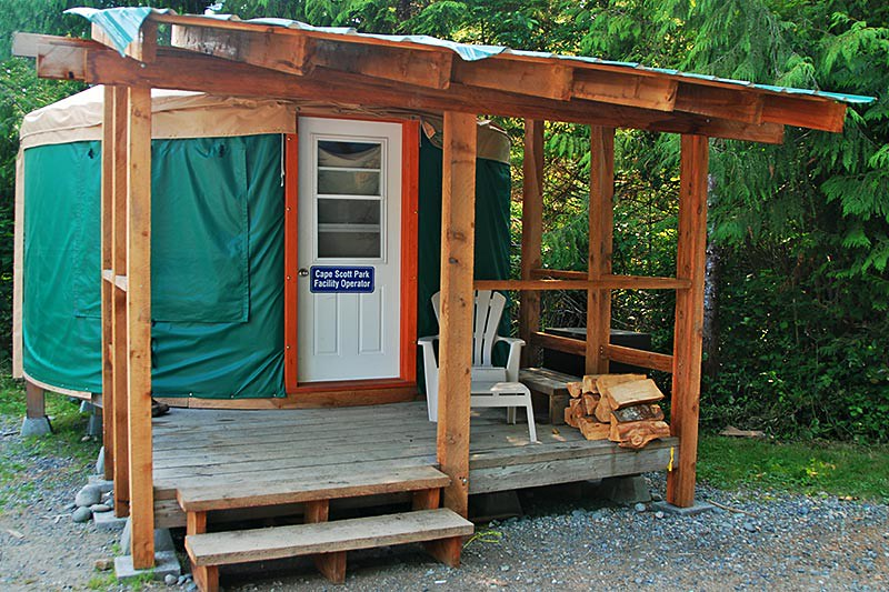 Park Facility Operator Yurt, Cape Scott Provincial Park, North Vancouver Island, British Columbia, Canada