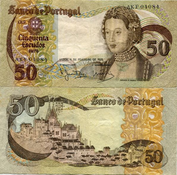 50 Escudos Portugalsko 1980, Pick 174b