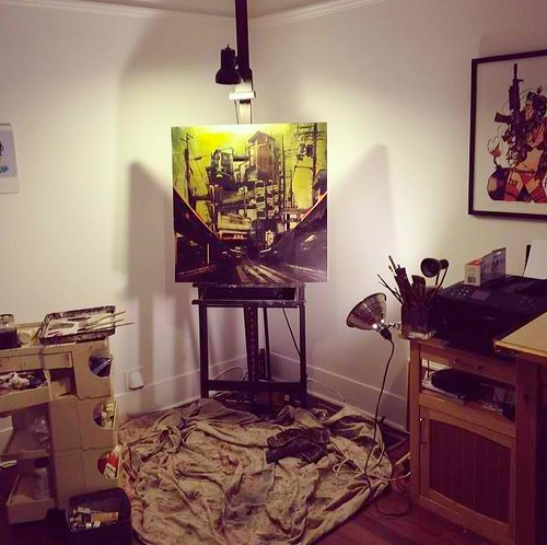 Inside Liz Brizzi's studio as she prepares for 'Adrift' this April at Thinkspace by thinkspace_gallery