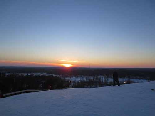 Sunset from the top of Pine Knob