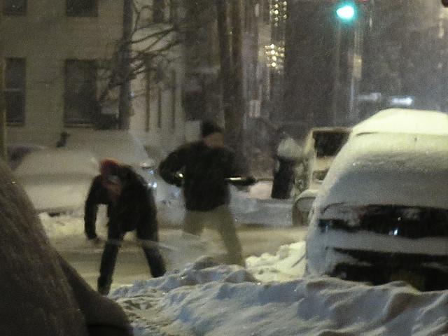 clearing the snow - Albany, NY Feb. 2014