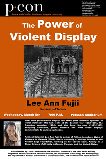 The Power of Violent Display Event Poster