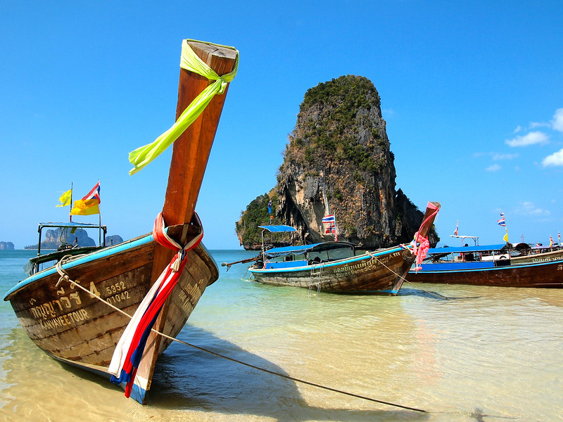 Pranang Beach in Railay, Thailand