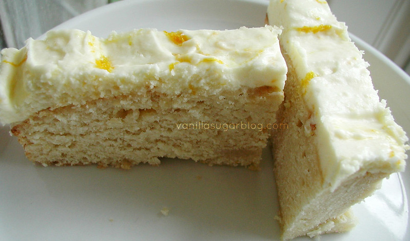 Vanilla Poundcake w Orange creamsicle Frosting 8