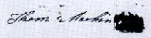 Thomas Machin signature