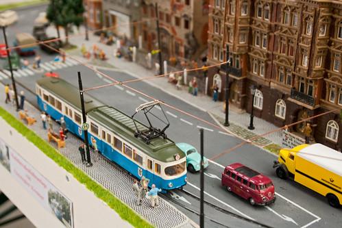 Testbetrieb auf dem Diorama von Christopher Kremser: Ab morgen drehen hier verschiedene Heidelberger und der Z-Wagen ihre Runden