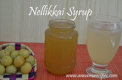 Amla Syrup /Amla Juice / Gooseberry , Nellikkai Juice