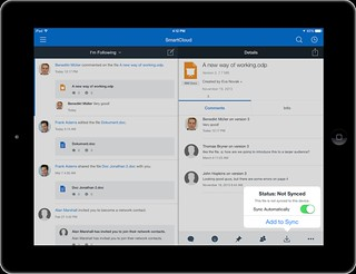 File Sync on Mobile powered by IBM Connections