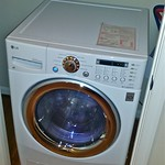 Combination washer and dryer in apartment closet