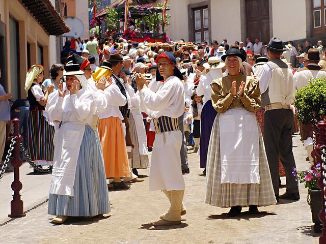 Dancers, Romeria San Isidro, La Orotava, Tenerife