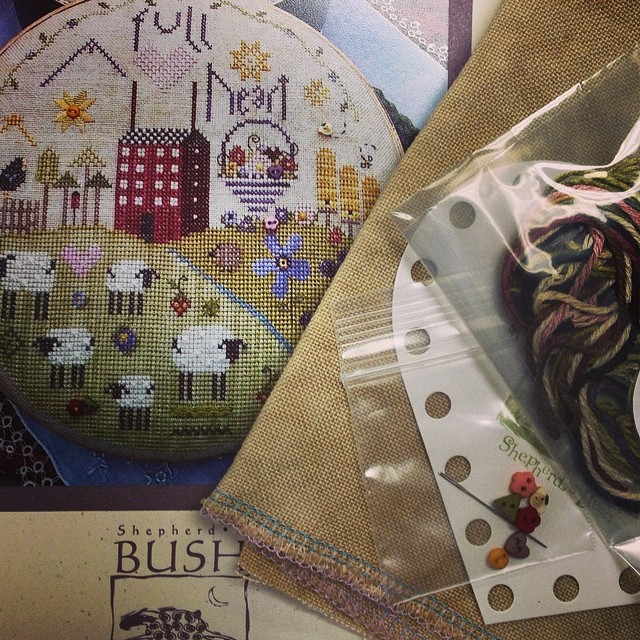 Happy early Mother's Day to me. :) #shepherdsbush #crossstitch #afullheart