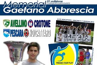 Noicattaro. Memorial gaetano Abbrescia 2014 front