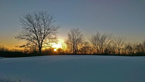 park winter sunset sun snow michigan february winterwonderland stonycreekmetropark shelbytownship