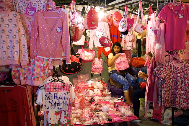 Hello Kitty shop, Talad Rot Fai, Bangkok, Thailand