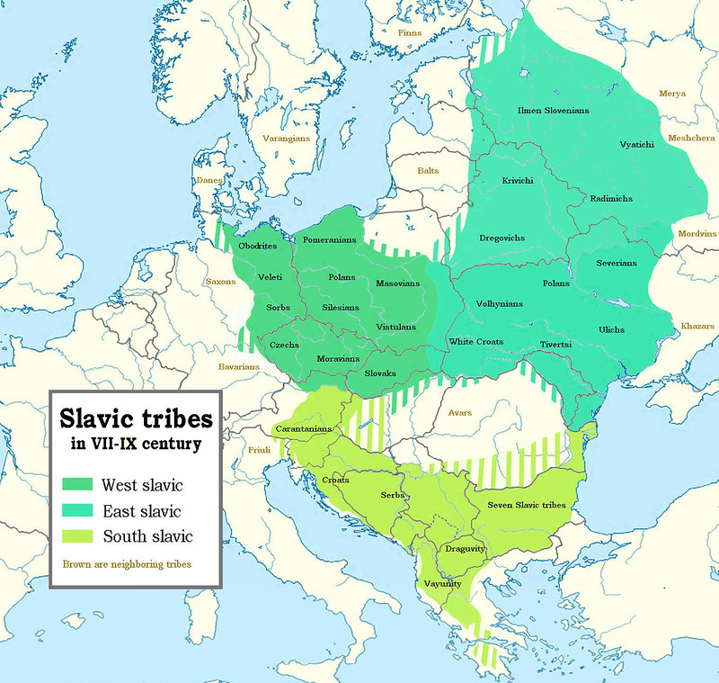Slavic people in Europe, XII - IX century