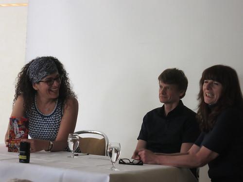 Safiye Can, Christoph Simon und Sandra Pfäfflin