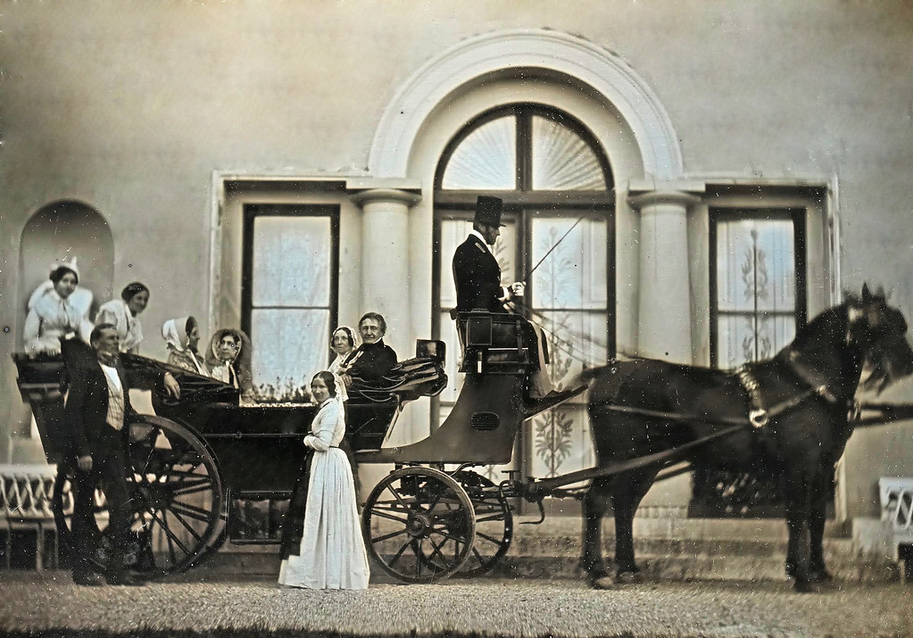 Landau Carriage with Figures, 1849