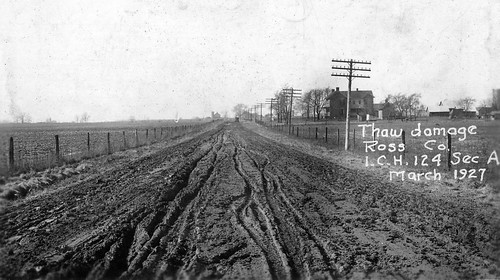 Muddy Roadway — Buckskin Township, Ross County, Ohio