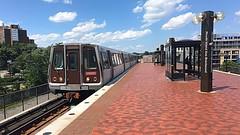 WMATA 6000 Series Railcars Arriving @ Rhode Island Ave Station