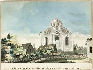 St. Nicolai medieval church ruin in Visby, Gotland, Sweden