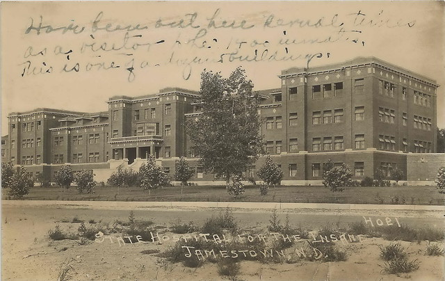 US ND Jamestown ND RPPC 1920s INSANE ASYLUM North Dakota ...