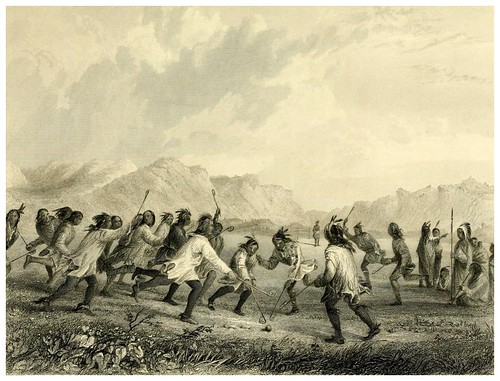 012-Jugando a la pelota en la pradera-The Indian tribes of the United States..1884-H. R. Schoolcraft
