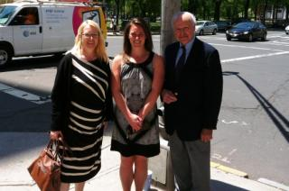 Erica with Angela O'Neill (College of Europe) and Professor Emile Boulpaep (Yale, BAEF)