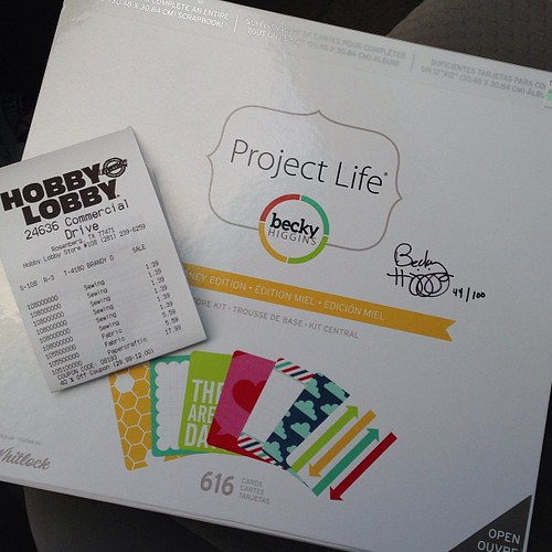 148:365 O.M.G!! A signed copy of @beckyhigginsllc Project Life from my Hobby Lobby!