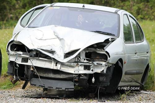 Scrapped 2001 Renault Megane.