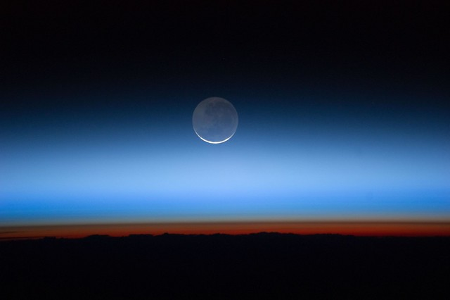 The Moon Over Earth (NASA, International Space Station)