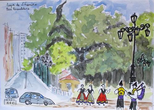 Campo de S.Francisco. Grupo de Gairas. Oviedo