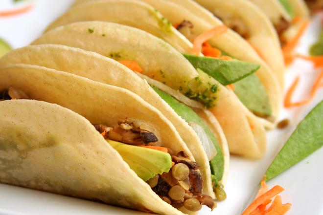 mushroom lentil tacos 5